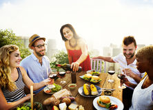 Celebration Friendship Rooftop Party Concept Stock Image