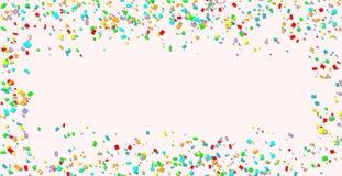 celebration Fundo colorido brilhante dos confetes do vetor ilustração royalty free