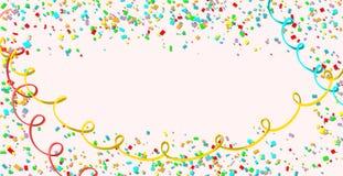 celebration Fundo colorido brilhante dos confetes do vetor ilustração stock
