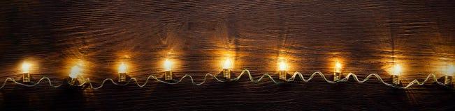 Celebration garland of light bulbs royalty free stock photos