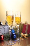 Celebration. the glasses of champagne and wine. Celebration. the glasses of champagne and wine Stock Photos