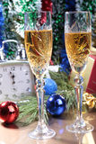 Celebration. the glasses of champagne,wine and gift box. Celebration. the glasses of champagne,wine and gift box Stock Photo