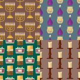 Celebration glowing religion candles seamless pattern background romance night bright flam burning object vector. Celebration glowing religion candles birthday royalty free illustration