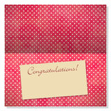 Celebration greeting card with copyspace on label Stock Image