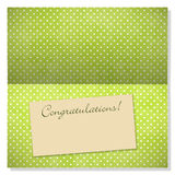 Celebration greeting card with copyspace on label Royalty Free Stock Image