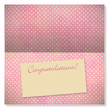 Celebration greeting card with copyspace on label Royalty Free Stock Photos