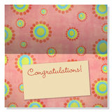 Celebration greeting card with copyspace on label Royalty Free Stock Images