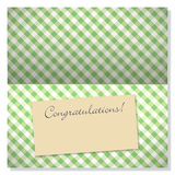 Celebration greeting card with copyspace on label Stock Images