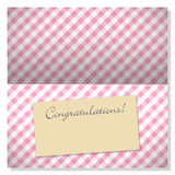 Celebration greeting card with copyspace on label Royalty Free Stock Photography
