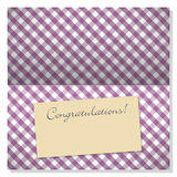 Celebration greeting card with copyspace on label Stock Photography