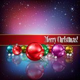 Celebration greeting with Christmas decorations Royalty Free Stock Photo