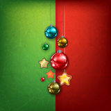 Celebration greeting with Christmas decorations Stock Photography