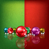 Celebration greeting with Christmas decorations Stock Photos