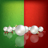 Celebration greeting with Christmas decorations Stock Images