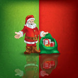 Celebration greeting with Santa Claus Stock Photos