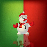 Celebration greeting with snowman Royalty Free Stock Image
