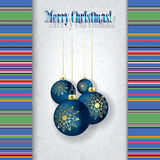 Celebration grunge greeting with Christmas decorat Royalty Free Stock Photo