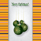 Celebration grunge greeting with Christmas decorat Stock Photo