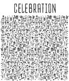 Celebration, happy birthday doodles elements Royalty Free Stock Image