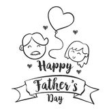Celebration happy father day style. Vector illustration Stock Image
