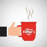 Celebration happy fathers day cup coffee hot Royalty Free Stock Images