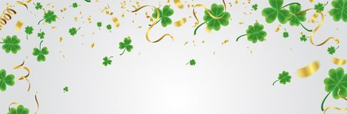 Celebration Happy St. Patrick`s day lettering on sparkling dark royalty free illustration