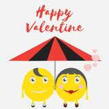 Celebration Happy Valentine Day - 14 february - love heart - Emoticon. High Resolution stock illustration
