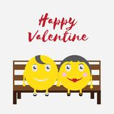 Celebration Happy Valentine Day - 14 february - love heart - Emoticon. High Resolution royalty free illustration