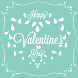 Celebration. Happy Valentines Day in blue Stock Images