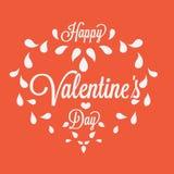 Celebration. Happy Valentines Day in orange Stock Images