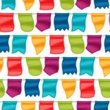 Celebration holiday seamless pattern with garland Stock Photo