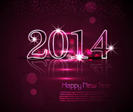 Celebration holiday shiny for 2014 new year backgr Stock Photography
