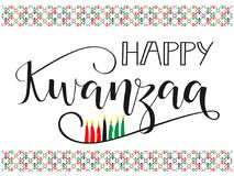 Happy Kwanzaa decorative greeting card. The celebration honors African heritage in African-American culture. Winter holidays. December 26th Stock Photography