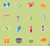 Celebration icon set Royalty Free Stock Image