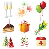 Celebration icons Stock Photography