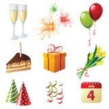 Celebration icons Stock Photography