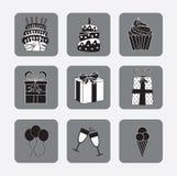 Celebration icons Stock Image