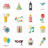 Celebration icons. This image is a vector illustration Royalty Free Stock Photo