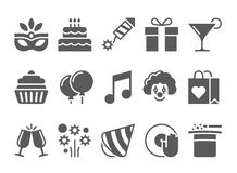 Celebration Icons and Party Icons Royalty Free Stock Photos