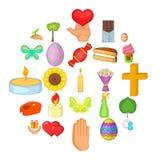 Celebration icons set, cartoon style. Celebration icons set. Cartoon set of 25 celebration vector icons for web  on white background Royalty Free Stock Photo