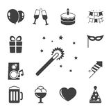 Celebration iconset, contrast flat Stock Photo