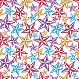 Celebration idea vector background, beautiful stars. Seamless. Background with festive stars, for use in decorating, graphic design and as wallpapers Royalty Free Stock Image