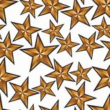 Celebration idea vector background, pentagonal golden stars. Sea Royalty Free Stock Images
