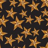 Celebration idea vector background, pentagonal golden stars. Sea Royalty Free Stock Photography