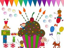 Celebration illustration. Vector image of a celebration Royalty Free Stock Image
