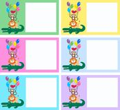 Celebration or invitation. Cards in different colours royalty free illustration