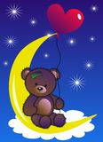 Celebration or invitation. A celebration or invitation card with a cute little bear Stock Image
