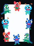 Celebration or invitation. Card with colourful monsters royalty free illustration