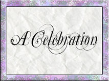 A Celebration Invitation Royalty Free Stock Image