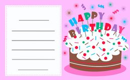 Celebration or invitation card Stock Photography
